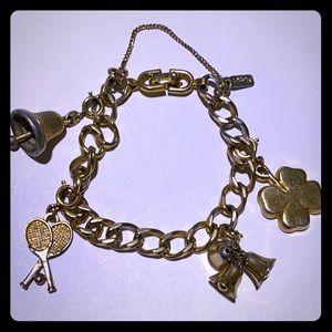 Vintage money charm bracelet